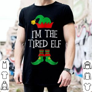 Awesome IM THE TIRED ELF Matching Family Group Christmas PJs sweater