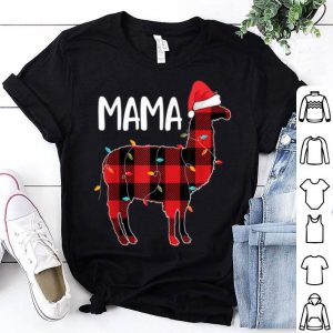 Awesome Mama Llama Christmas Red Plaid Matching Family Pajama sweater