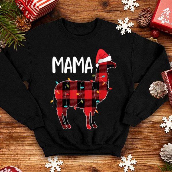 Awesome Mama Llama Christmas Red Plaid Matching Family Pajama sweater