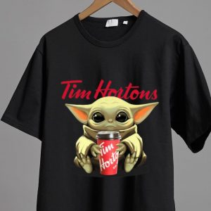 Awesome Star Wars Baby Yoda Hug Tim Hortons shirt