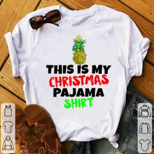 Awesome This Is My Christmas Pajama Santa Pineapple Hat Gift sweater