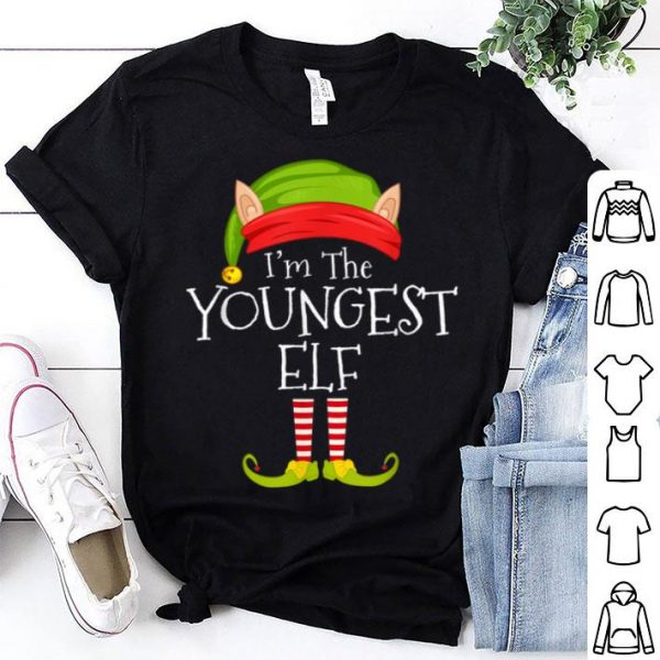Beautiful Christmas Family Matching Costume I'm The Youngest Elf Xmas sweater