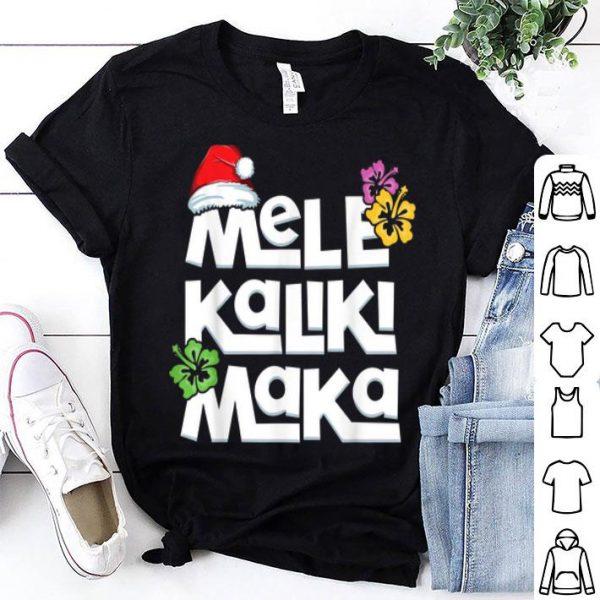 Beautiful Hawaiian Christmas Mele Kalikimaka Tropical Xmas Santa sweater