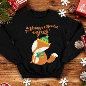 Beautiful Lovely Fox Happy New Year - Christmas Fox Pajama sweater