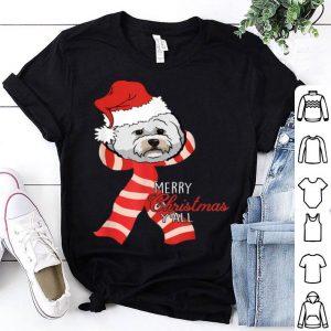 Beautiful Merry Christmas Y'all Santa Bichon Frise Dog Xmas lover gift sweater