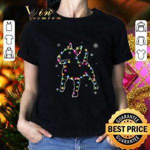 Cool Bull Terrier Christmas lights shirt 1