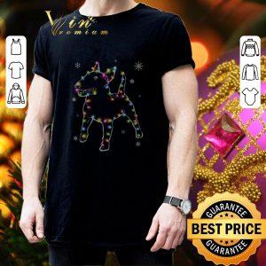 Cool Bull Terrier Christmas lights shirt 2