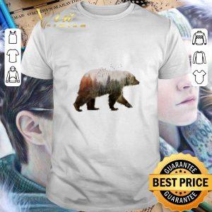 Cool Camping bear nature trees shirt