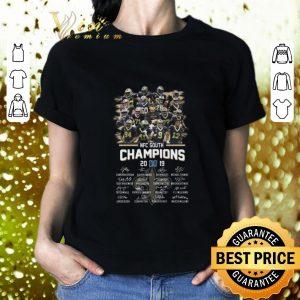 Cool NFC South Champions 2019 signatures New Orleans Saints shirt