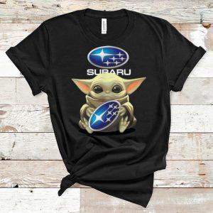 Great Star Wars Baby Yoda Hug Subaru shirt
