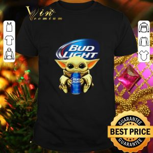 Nice Baby Yoda hug Bud Light Budweiser Star Wars Mandalorian shirt