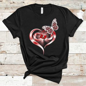 Nice Butterfly Heart Love Tampa Bay Buccaneers shirt