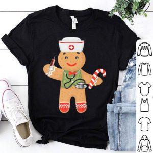 Nice Gingerbread Christmas Nurse Funny Xmas Holiday Rn Tee sweater