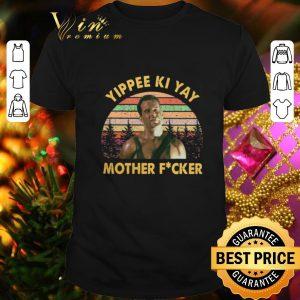 Nice John McClane Yippee Ki Yay Mother Fucker Sunset Vintage shirt