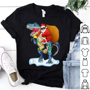 Nice Santa Riding Dinosaur T rex Christmas Gifts Boys Men Xmas sweater