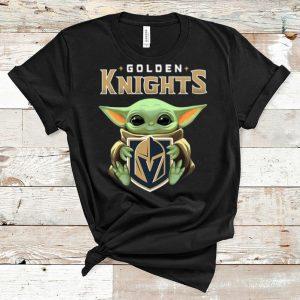 Nice Star Wars Baby Yoda Hug NHL Golden Knights shirt