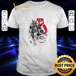 Nice The Mandalorian Lone hunter and cub Baby Yoda shirt