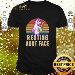 Nice Unicorn Resting Aunt Face Vintage shirt