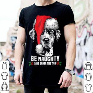 Official Be Naughty Save Santa Catahoula Cur Xmas sweater