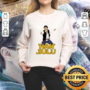 Official Han Solo Han Sulu Star Trek Hikaru Sulu Star Wars shirt