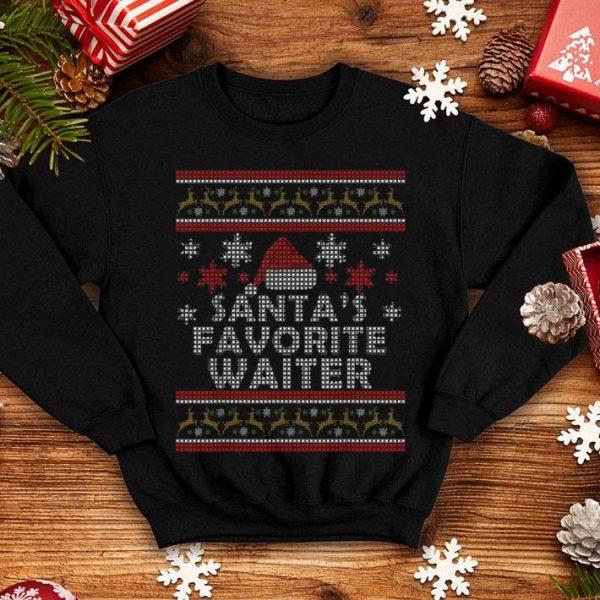 Official Mens Santa's Favorite Waiter Restaurant Gift Ugly Christmas sweater