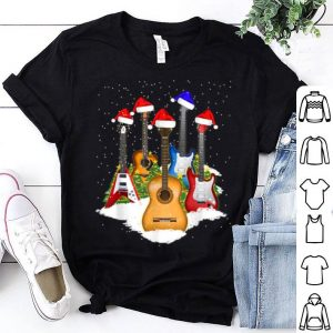 Original Guitar Santa Hat Christmas Tree Funny Music Loves Xmas Gift sweater