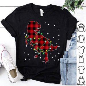 Premium Red Plaid Dinosaur Christmas Pajama sweater