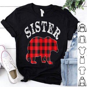 Premium Red Plaid Sister Bear Matching Buffalo Family Pajama sweater