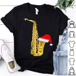 Pretty Christmas Musical Santa Hat Saxophone design design sweater
