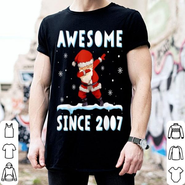 Pretty Dabbing Santa Claus Awesome Since 2007 12 years Xmas Gift sweater
