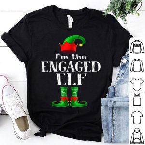 Pretty I'm The Engaged Elf Matching Family Pajama Christmas Gift sweater