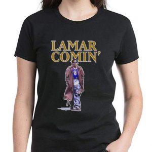 Pretty Lamar Jackson Lamar Comin' shirt 2