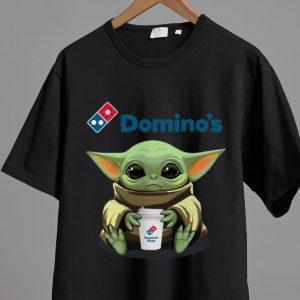 Pretty Star Wars Baby Yoda Hug Domino's Pizza shirt