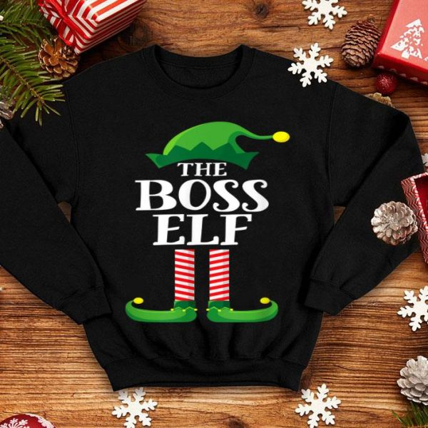 Top Boss Elf Matching Family Group Christmas Party Pajama sweater