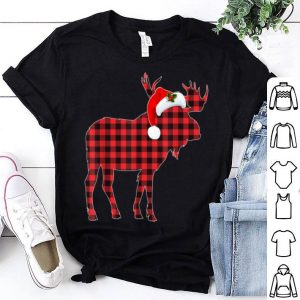 Top Matching Family Christmas Moose Plaid Pajama Tee sweater