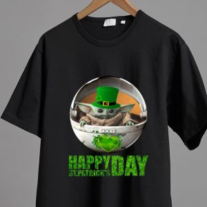 Awesome Star Wars Baby Yoda Happy St Patrick's Day shirt
