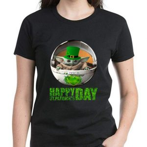 Awesome Star Wars Baby Yoda Happy St Patrick's Day shirt 2