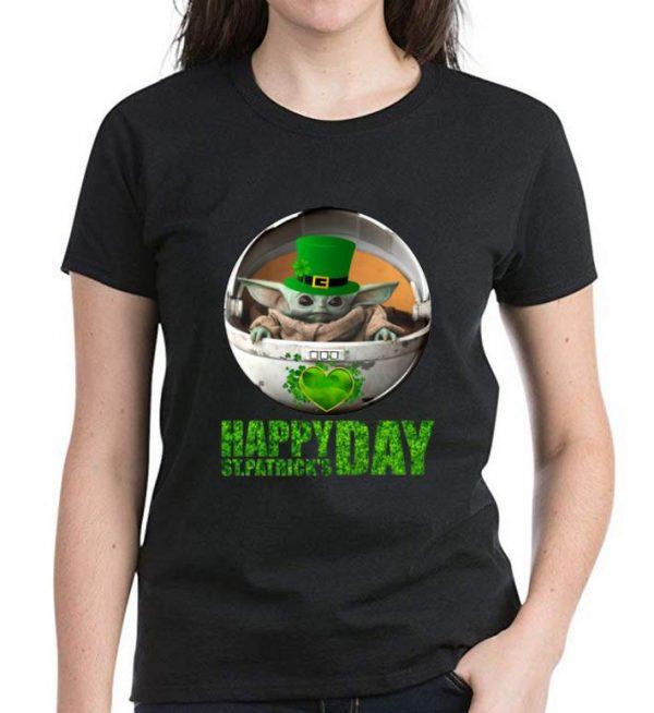 Awesome Star Wars Baby Yoda Happy St Patrick's Day shirt