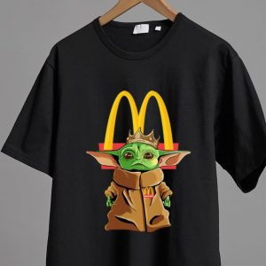 Hot Star Wars Baby Yoda King McDonald's shirt