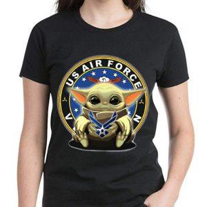 Official Star Wars Baby Yoda Hug US Air Force shirt 2