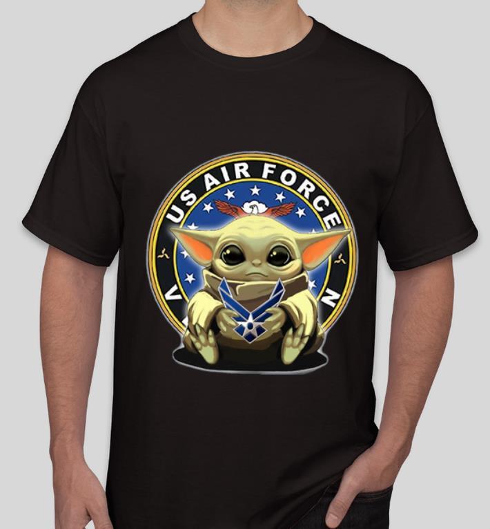 Official Star Wars Baby Yoda Hug US Air Force shirt 4 - Official Star Wars Baby Yoda Hug US Air Force shirt
