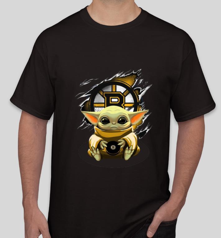 Original Star Wars Baby Yoda Blood Inside Boston Bruins shirt 4 - Original Star Wars Baby Yoda Blood Inside Boston Bruins shirt