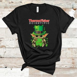 Awesome Baby Yoda Thermo Fisher Scientific Shamrock St.Patrick's Day shirt