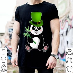 Beautiful Irish Shamrock Leprechaun Panda St Patricks Day shirt
