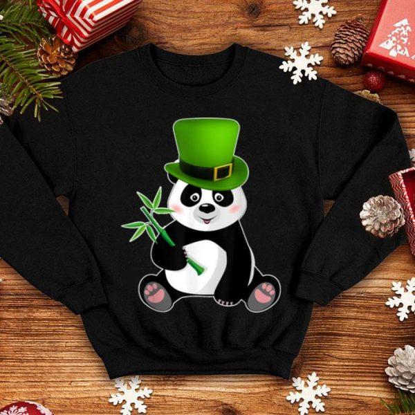 Beautiful Irish Shamrock Leprechaun Panda St Patricks Day shirt