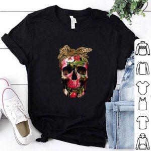 Cool Floral skull leopard shirt