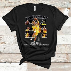 Great 24 Kobe Bryant 1978 2020 Thank You For The Memories Signature shirt