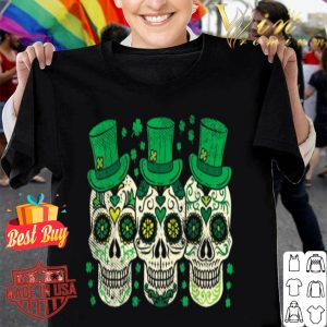 Irish Mexican Sugar Skull Leprechauns Cool St Patricks Day shirt