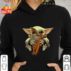 Nice Baby Yoda Hug Harp Star Wars shirt
