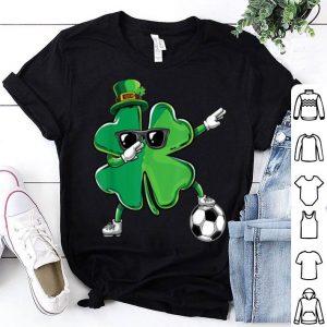 Nice Funny Dabbing Shamrock Dab Soccer St Paddys Day Boys Gift shirt